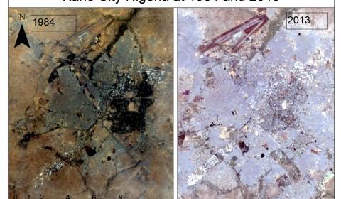 kano state change detection satellite image